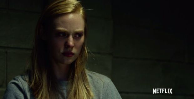 Screen cap of Karen Page from Netflix show Daredevil.