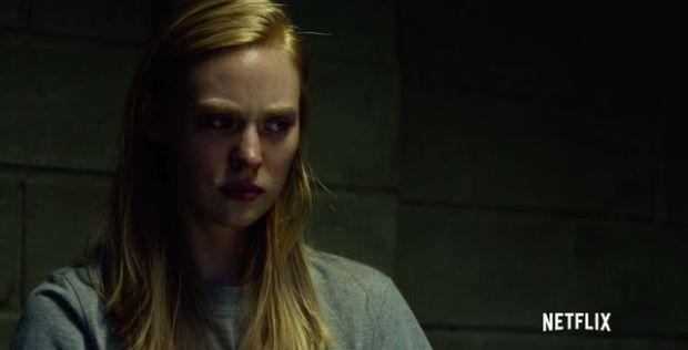 Screen cap of Karen Page from Netflix show Daredevil.